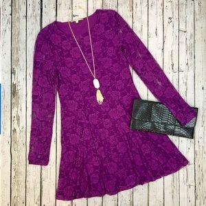 {Gianni Bini} Purple/Fuchsia Lace Dress